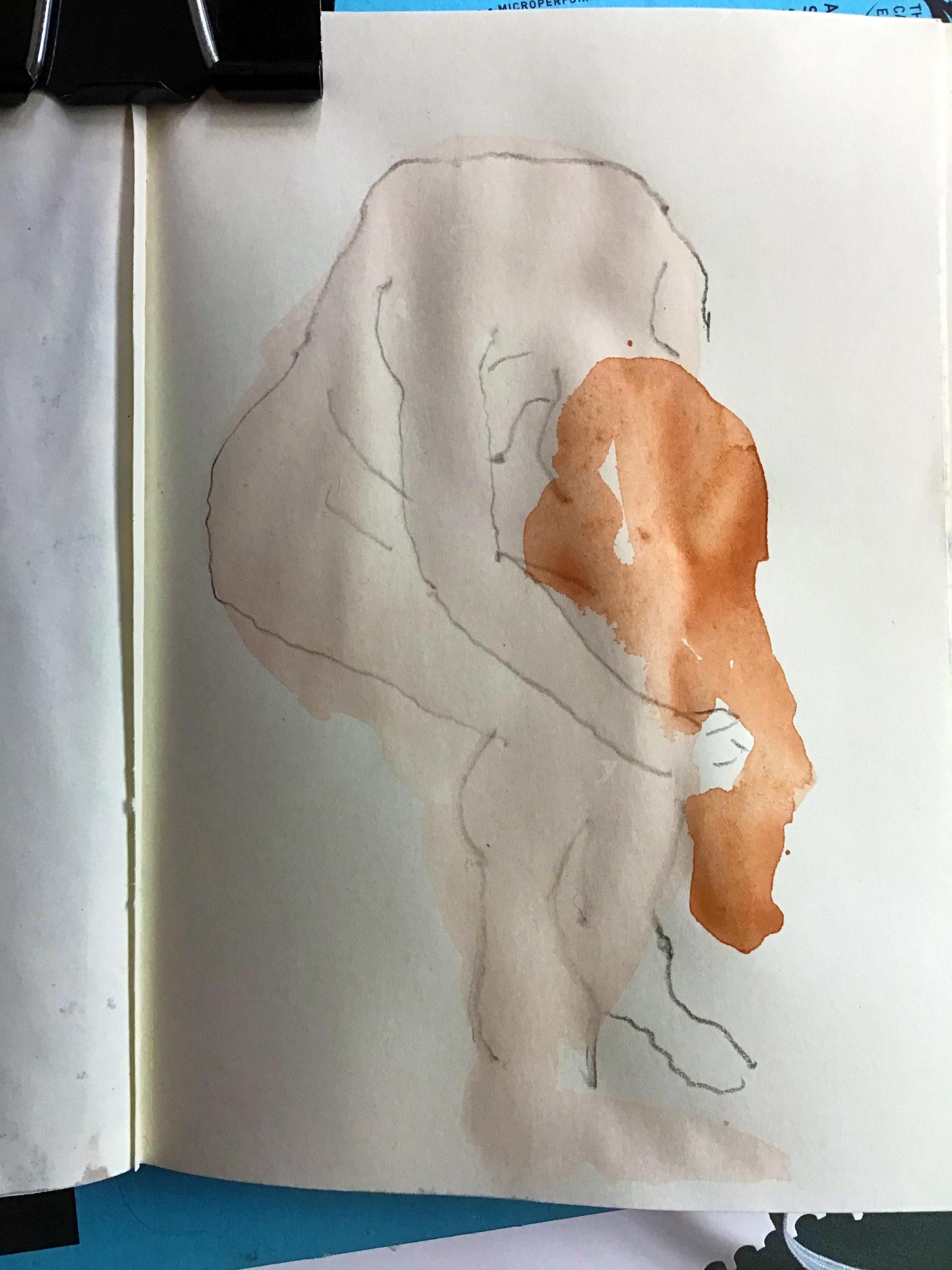Auguste Rodin Watercolour Demo
