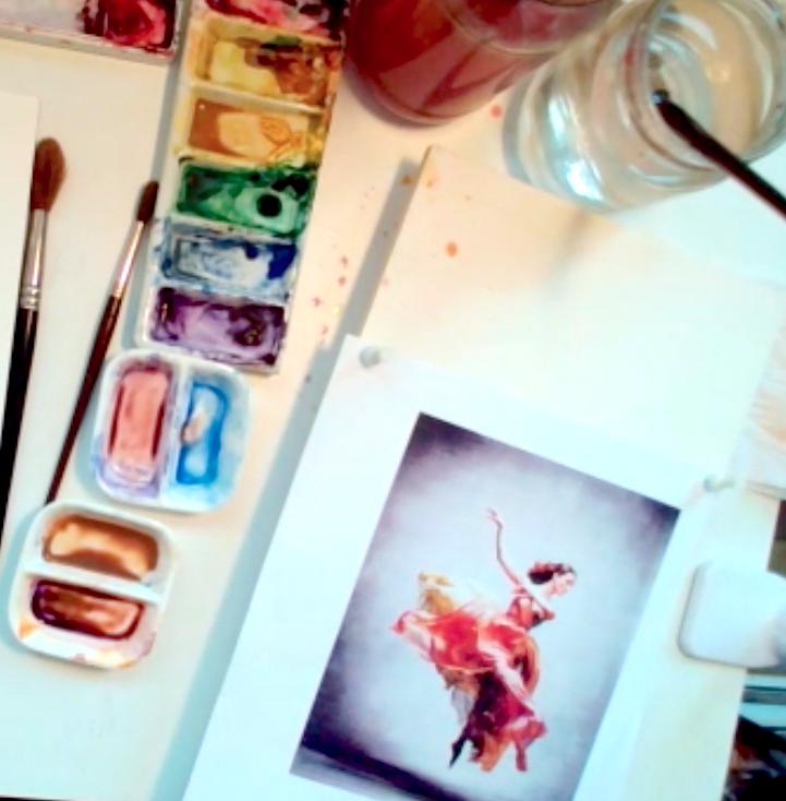 Watercolour Figure Materials for Video - Materials